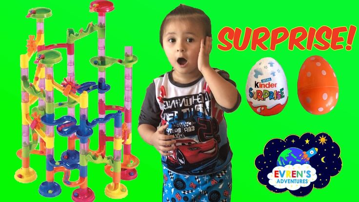 102pcs Spiral Marble Run Racing Challenge! Family Fun Game Surprise Toys Opening. Join Evren and Daddy racing Marbles down the spiral track with lots of Marbles. Whoever win will get the surprise. The surprise prizes are Disney Smurfs Kinder Surprise egg and a mystery egg with surprise toy inside. Great Kid video for children who loves challenges and being creative. Thanks for watching!