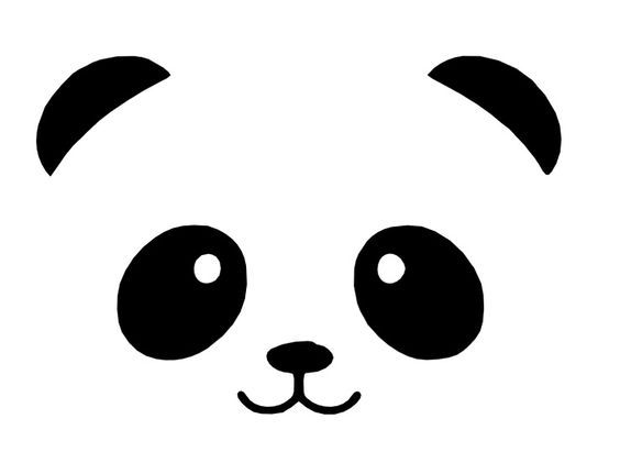 Image result for panda face svg onsie ideas panda - Tete de panda dessin ...