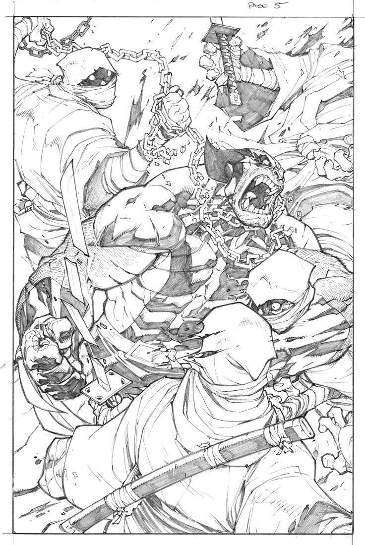 Woverine pg 5 interior pencil art by Joe Madureira! (Marvel comics)