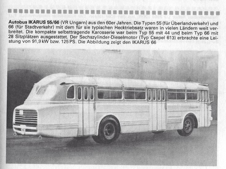 1960 Ikarus 55/66 Autobus