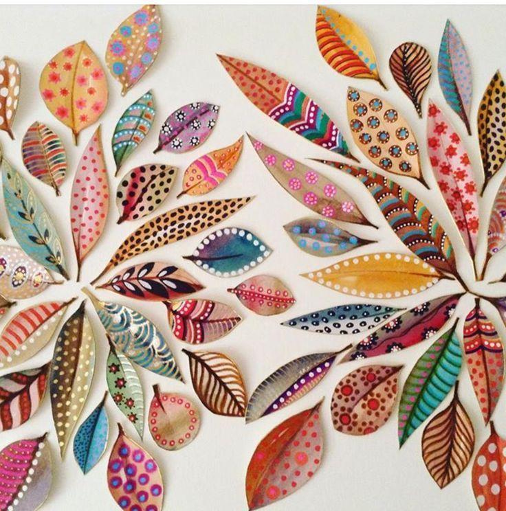 beautiful painted leaves