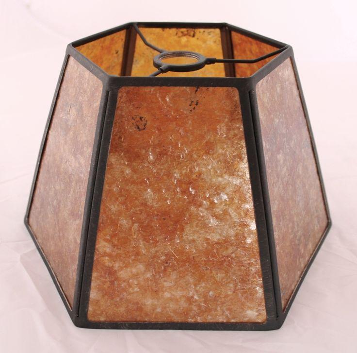 Hexagon Mica Uno Lamp Shade For Bridge Arm Floor Lamps 7