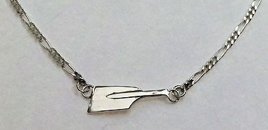 Anklet- Small Blade on Figaro Chain