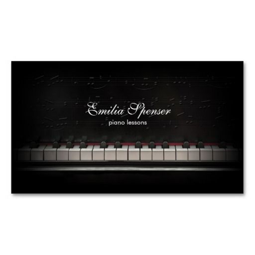 Best 289 teacher business cards images on pinterest lyrics text piano music teacher black business card colourmoves