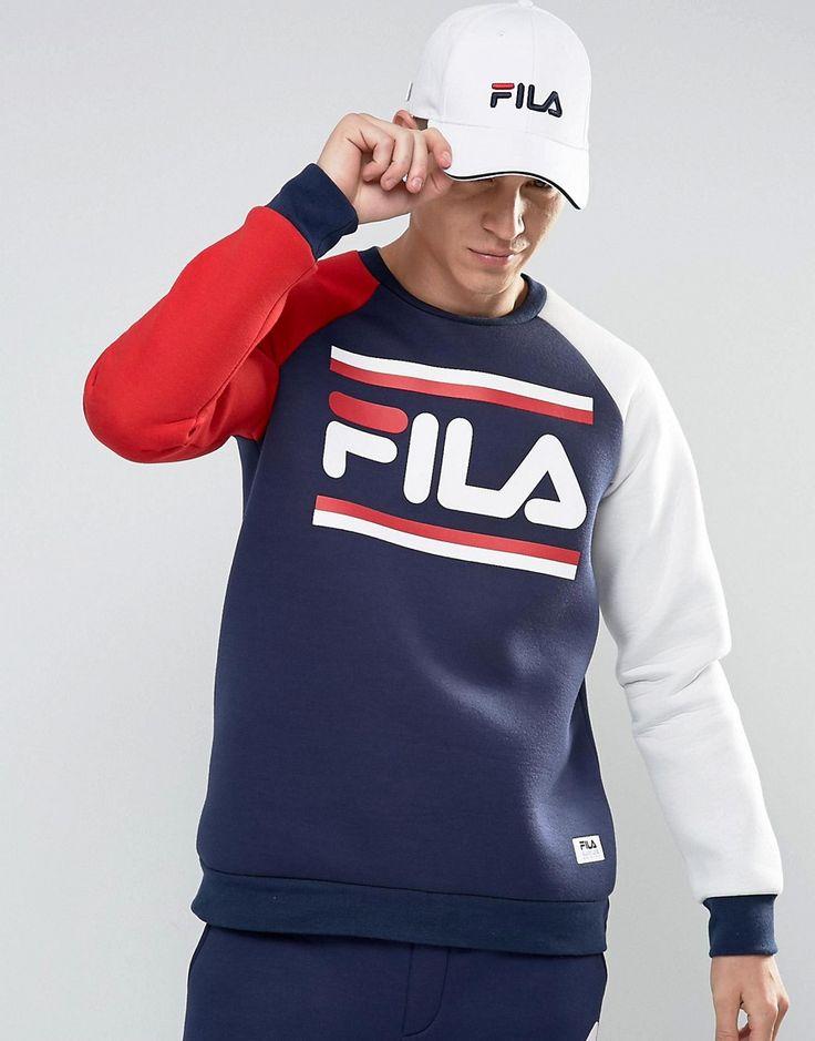 fila navy blue sweatshirt. fila+black+retro+sweatshirt fila navy blue sweatshirt a