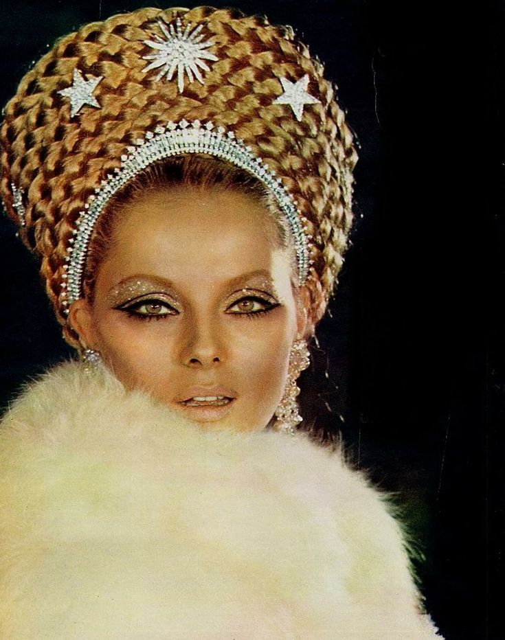 Virna Lisi silver and gold vintage 60's makeup
