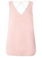 Womens Blush Cross Back Top- Pink