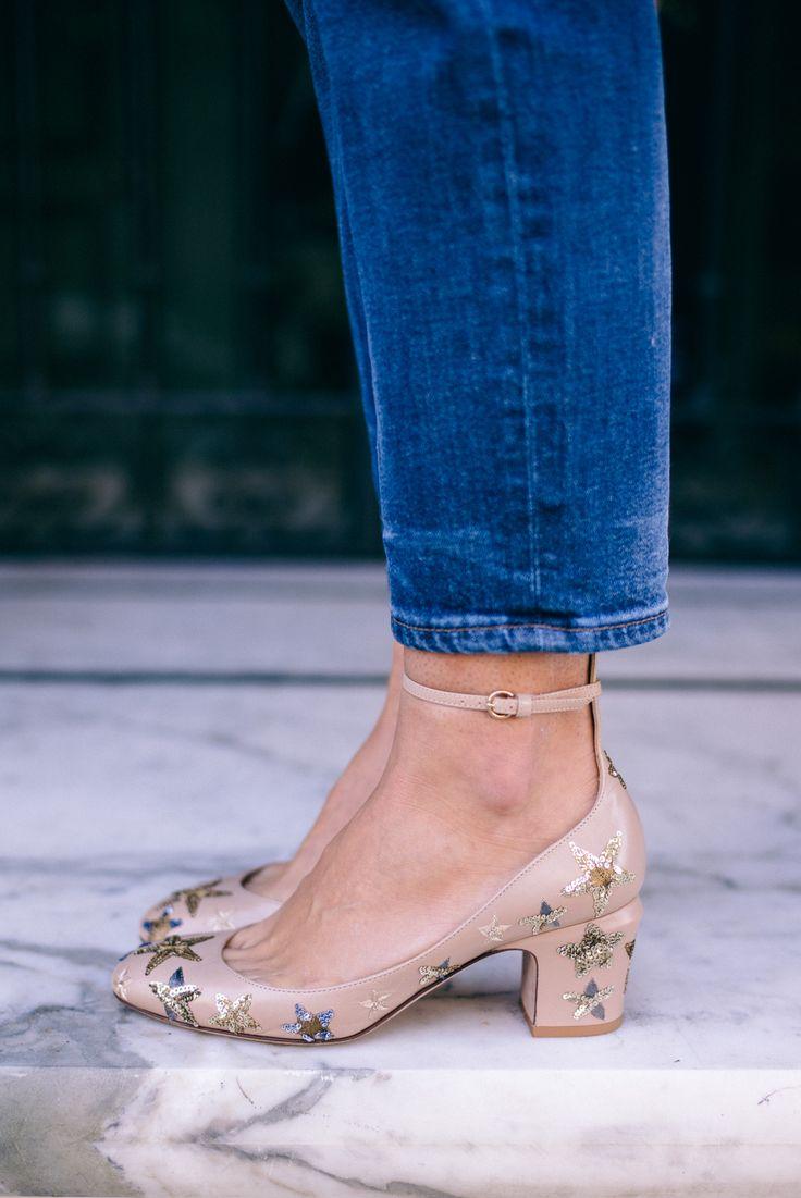 Gal Meets Glam Gold Sequin Blazer + Edie Parker Clutch Giveaway - J.Crew jeans & Valentino pumps
