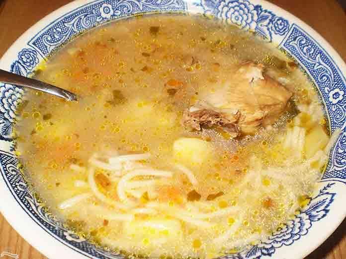 Куриный суп с вермишелью и картошкой рецепт | Готовим рецепты