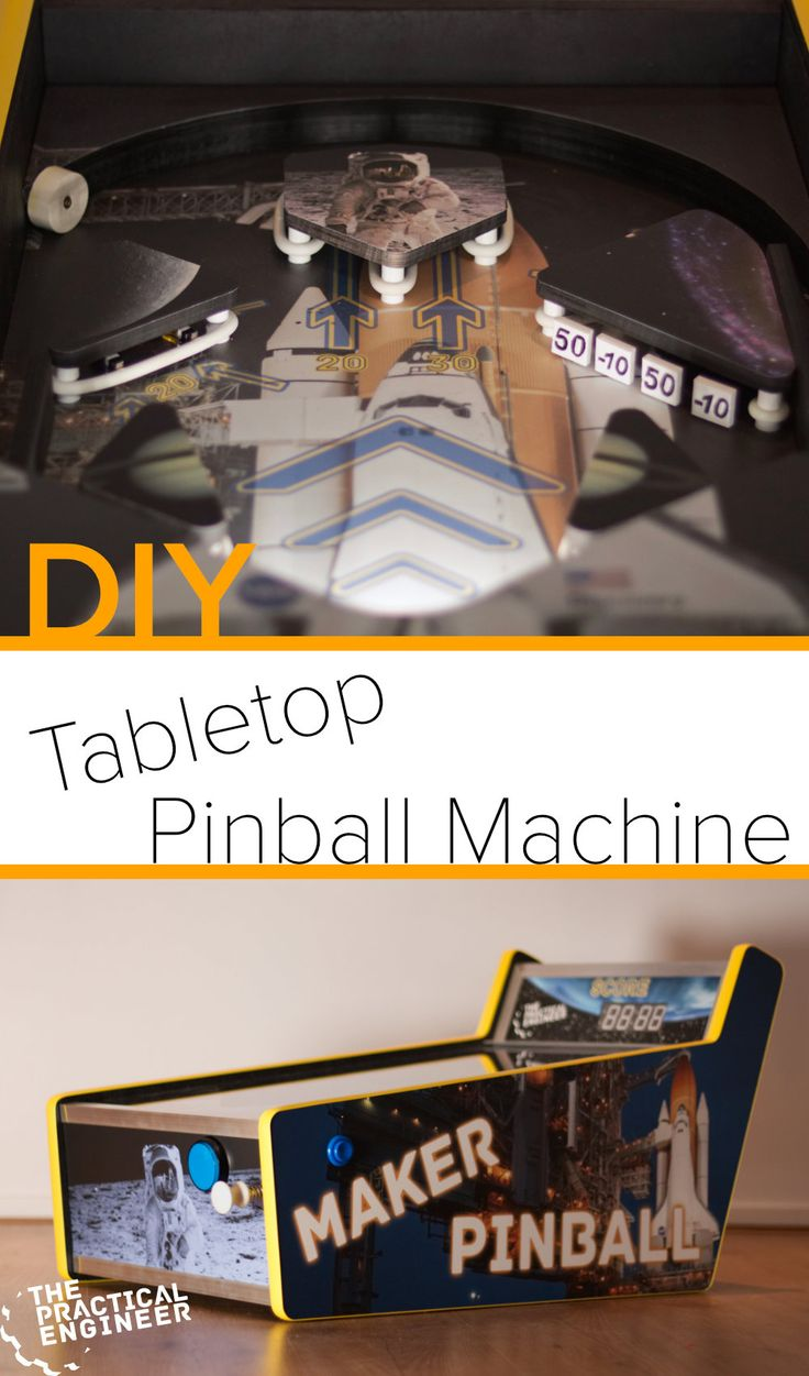 DIY Woodworking Ideas How to make a tabletop pinball machine. DIY
