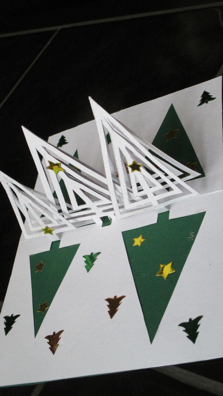 vánoční kirigami