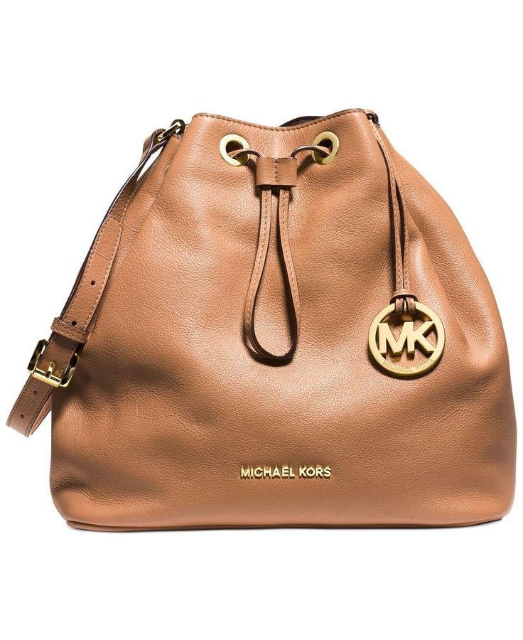 Michael Kors Jules Suntan Leather Purse Drawstring Shoulder Bag | eBay