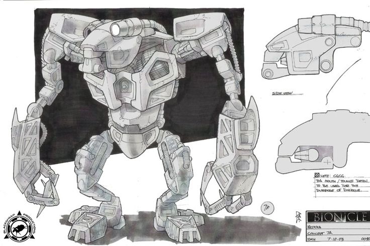 Bionicle 2: Legends of Metru Nui - Krekka Front View Concept Art