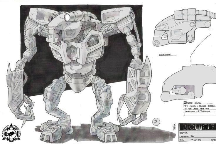 Bionicle 2: Legends of Metru Nui - Krekka Front View Concept Art
