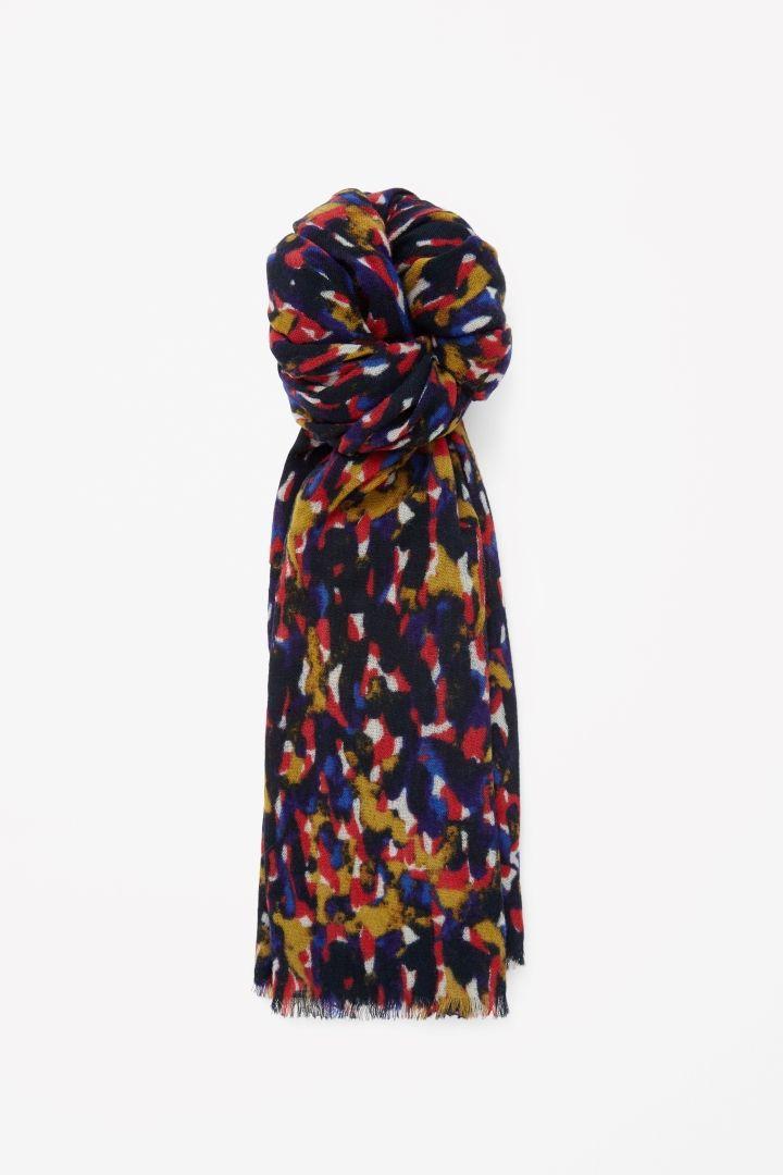 COS   Printed wool scarf
