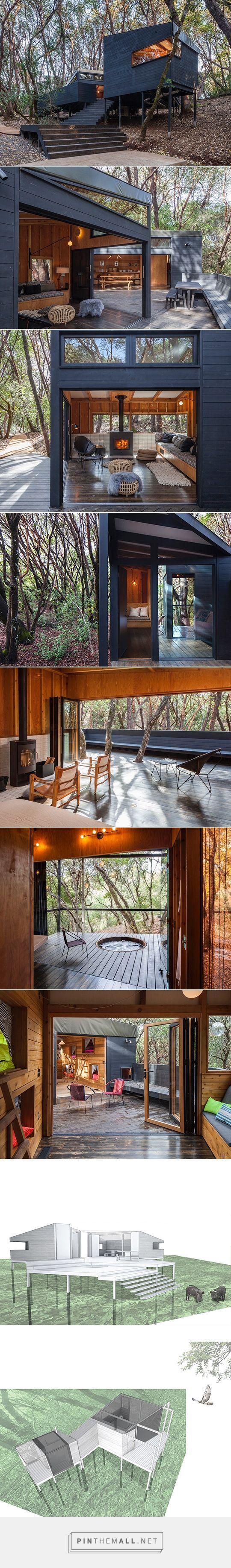 Casa pequeña en el bosque-  via https://pinthemall.net