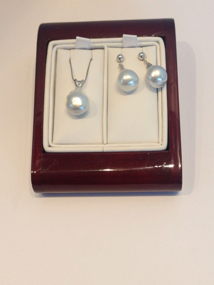 14kt white south sea pearls