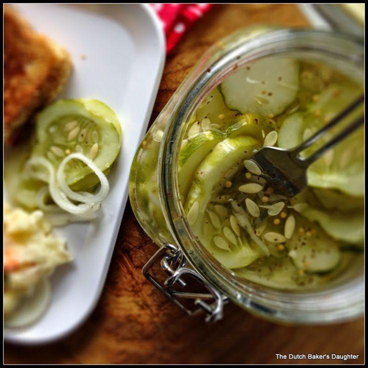 The Dutch Baker's Daughter: Hot and Sweet Refrigerator Pickles