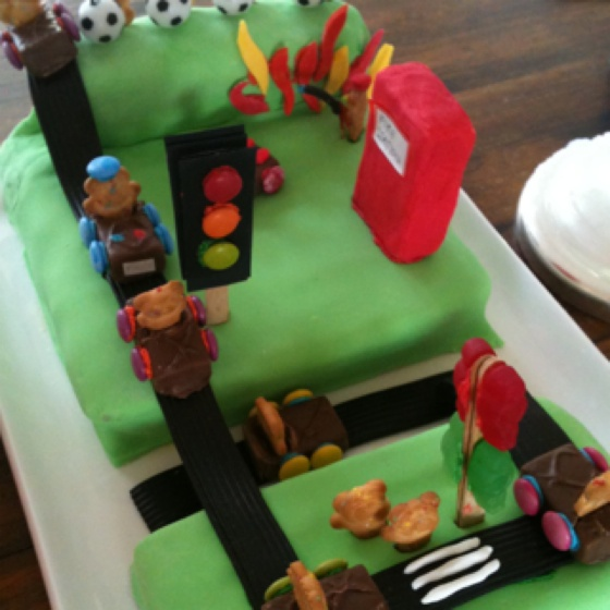 Traffic Light Birthday Cake