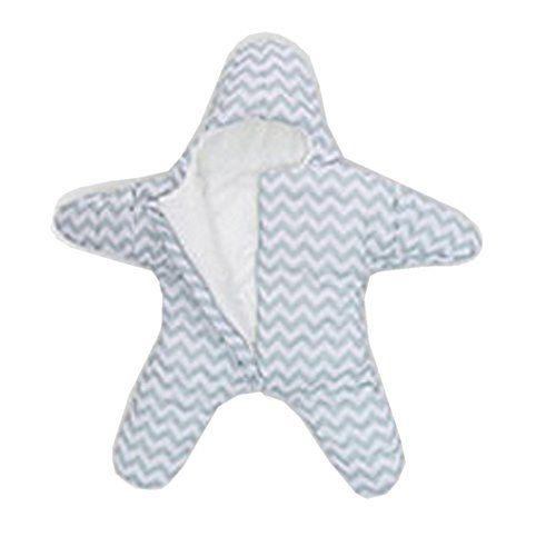 eonkoo Newborn Infant Baby Bunting Bag Winter Starfish Sleeping Bag 0-12M (gray) - $37.99