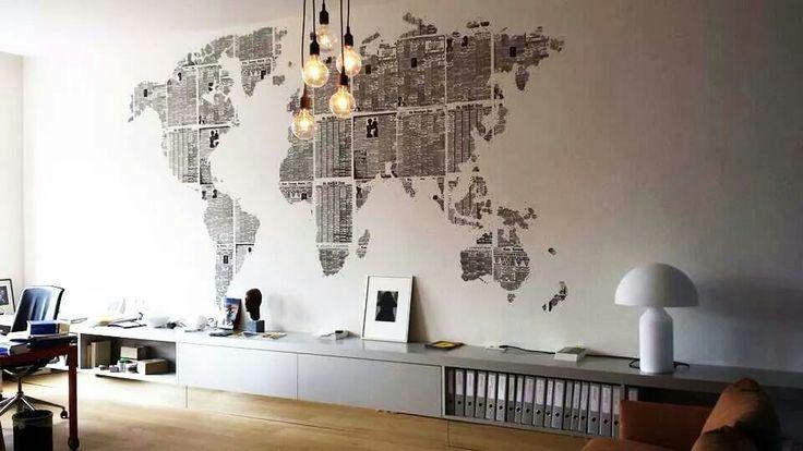 Oltre 25 fantastiche idee su carta da parati per ufficio for Carta parati mondo
