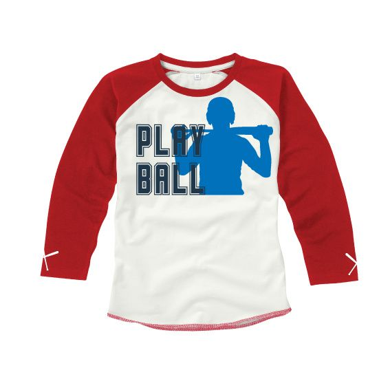 Kids | baseball shirt Play Ball (MK16) | Honkbal | vanSHIRTJEtotSHIRTJE