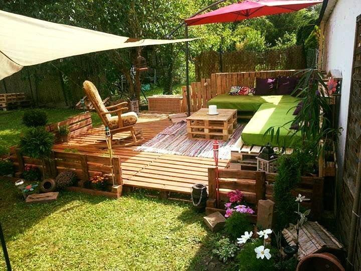 if you really want to add beauty to your house then you can add a beautiful wooden pallet patio to your garden if you want that your guests admire the