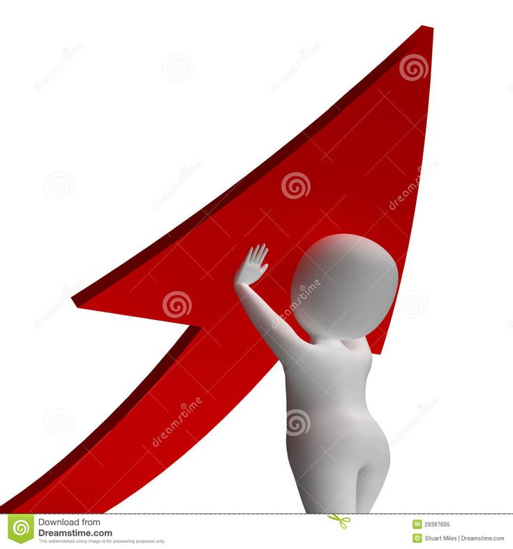 Man Holding Up Arrow Shows Improvement Or Growth Royalty Free Stock Photo - Image: 29397605