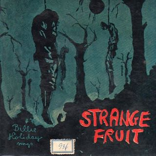 "Refried Vinyl (among other things): ""Strange Fruit"" by Billie Holiday: Billy Holidays, The Crows, Billie Holiday, Africans American, Songs, Plays Real, Strange Fruit, Poplar Trees, Fruit Hanging"
