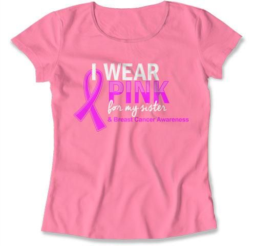 Breast Cancer T Shirt, Pink Ribbon Shirt, Cancer Support, Pink TShirt – Teepinch
