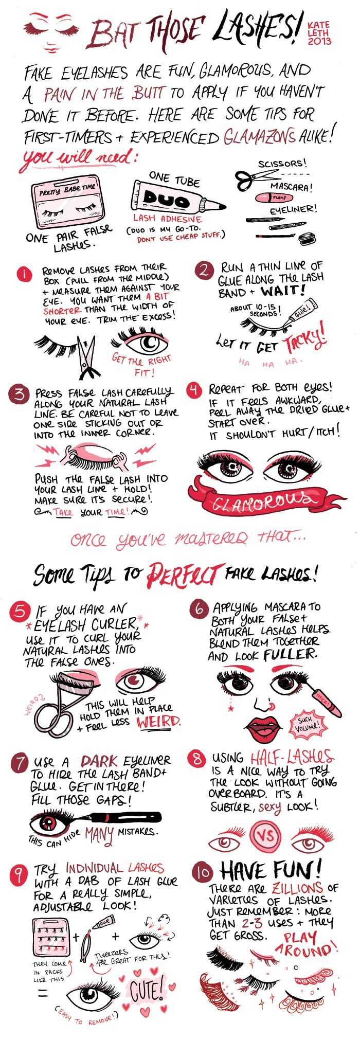 Kate Or Die drew a neat comic about false lashes! Another one about lipstick in the comments. - Imgur