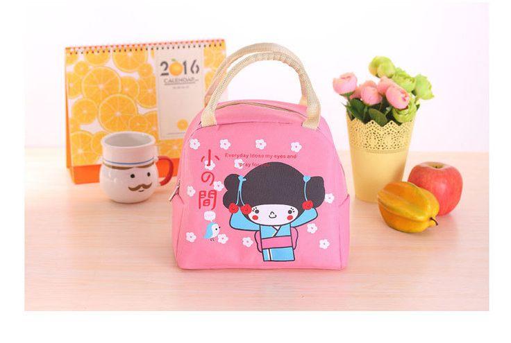2016 Cotton canvas & FoilNew Insulation Bag Milk Bottle Fashion Women Handbag Nylon Thermal Kids Lunch Box Picnic Insulation Bag
