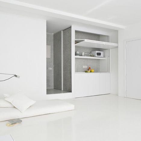 Studio Apartment in white, The White Retreat by CaSA