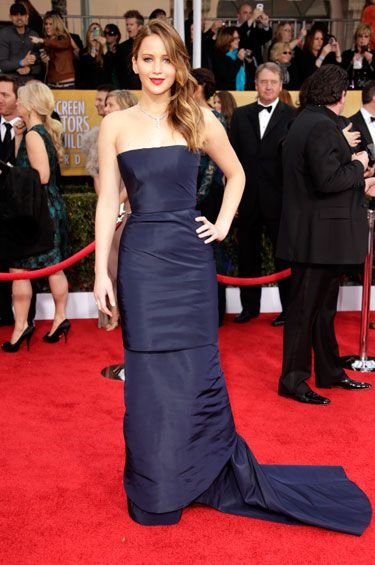 Jennifer Lawrence in Dior Couture // Screen Actors Guild Awards 2013.