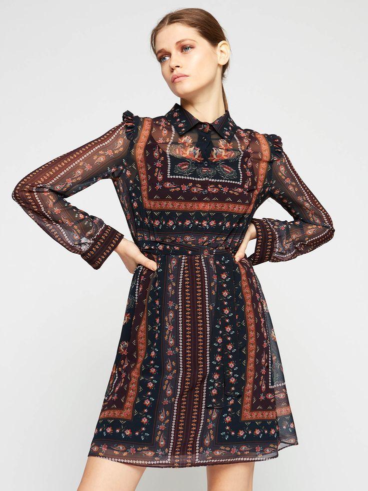 Catalog Motivi Rochii Dama 2017 - 2018! Oferte si recomandari: rochie boho lunga din material usor transparent 99.00€; rochie tip clopot, decolteu rotund