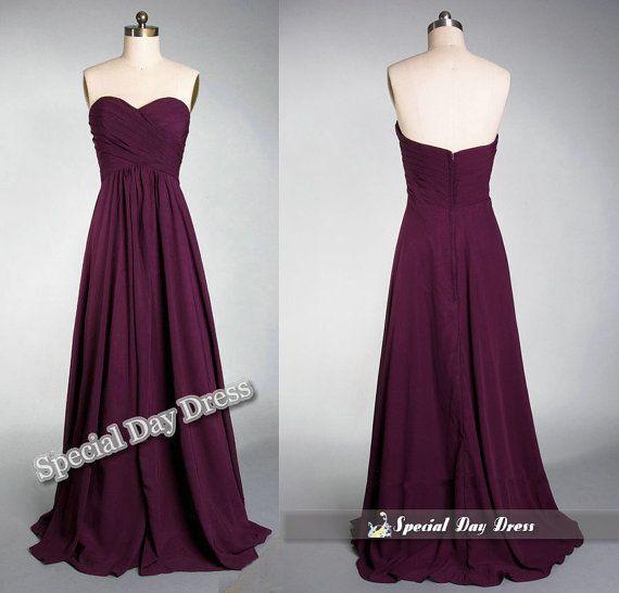 Hot sale bridesmaid dresses, long chiffon prom dress, orange evening dresses, formal dress on Etsy, $98.00