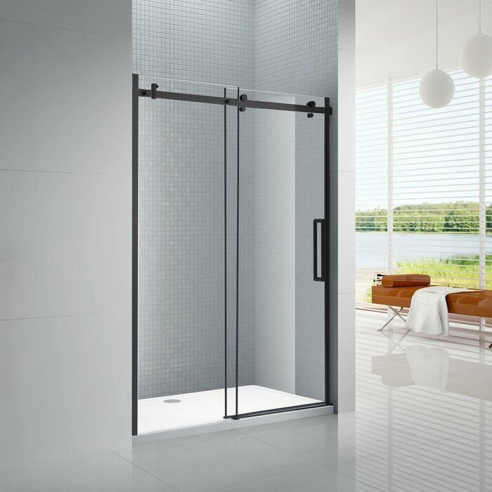 Primo 78 X 48 Bypass Frameless Shower Door Frameless Sliding Shower Doors Shower Sliding Glass Door Frameless Shower Doors