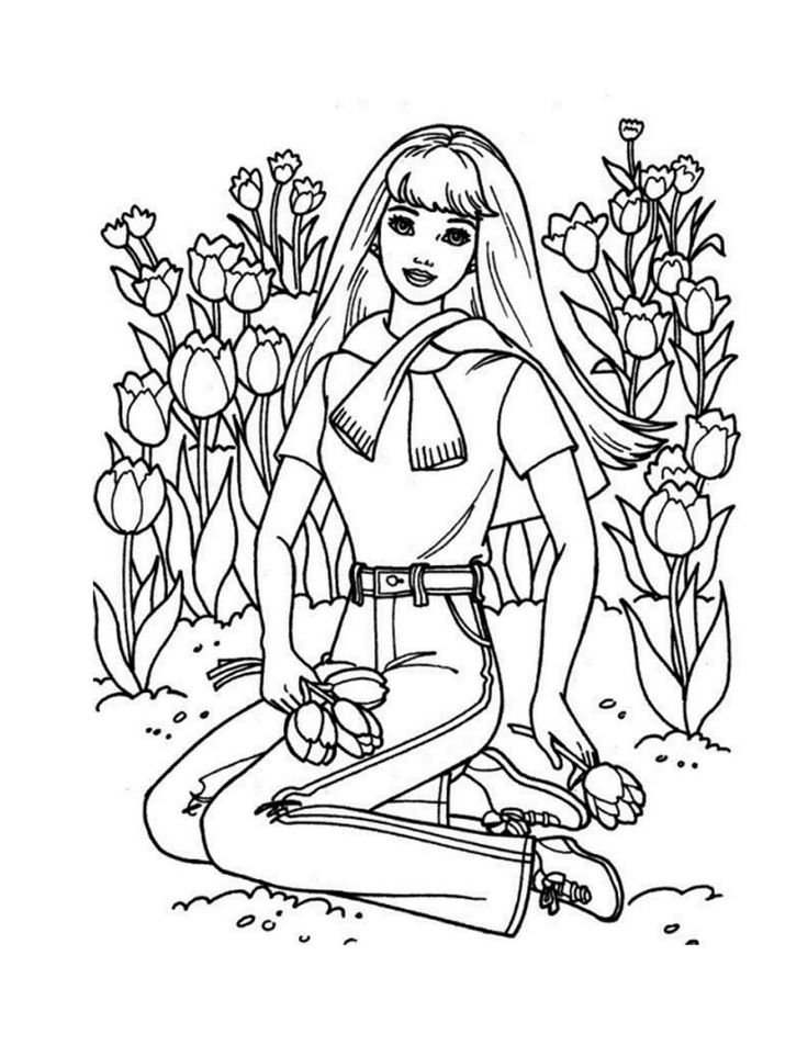 detailed barbie coloring pages printable bing images