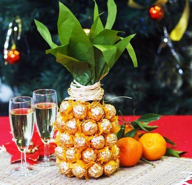Una bottiglia di Spumante in Ananas di Cioccolato! | Pianeta delle Idee