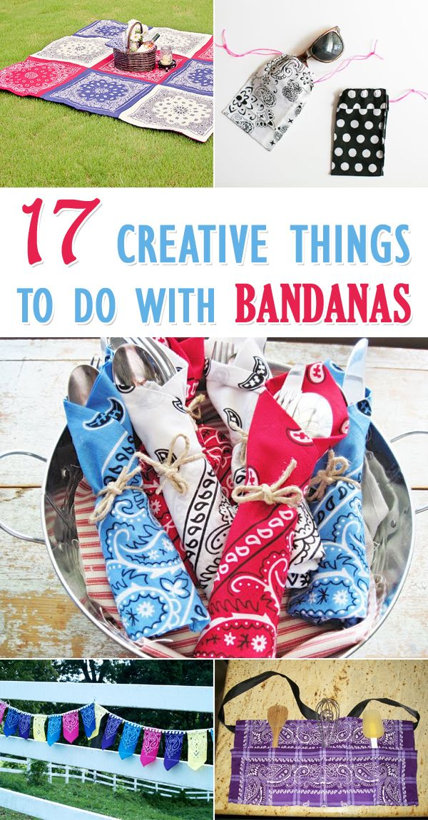 17 Creative Things to Do with Bandanas