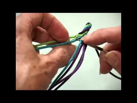"Make the Ply-Split ""Waves"" Braid"