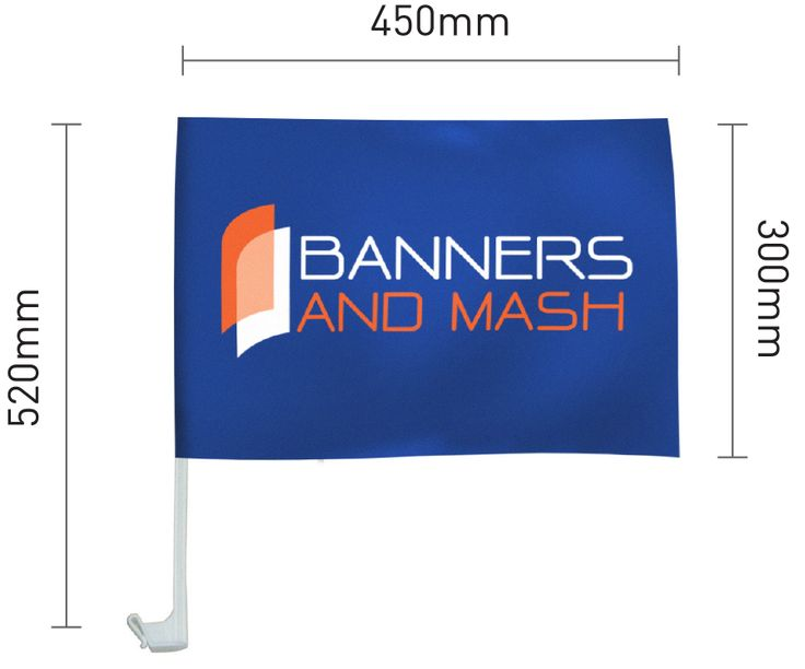 Select your personalized car flag at Banners and Mash Pty Ltd. Get the best car flag banners to accessorize your car for national celebrations or rally.