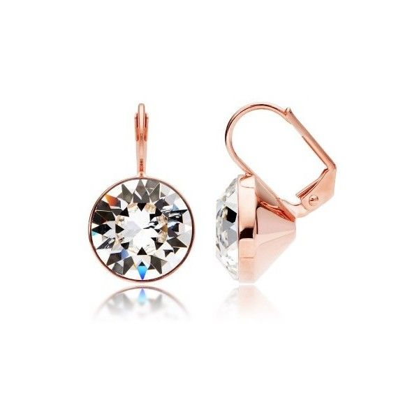 MYJS Bella Statement Earrings with Clear Swarovski Crystals Rose Gold... ($22) ❤ liked on Polyvore featuring jewelry, earrings, swarovski crystal earrings, rose gold plated earrings, swarovski crystal drop earrings, earrings jewelry and clear crystal drop earrings