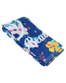 Urban Beach Hibiscus Beach Towel  Blue