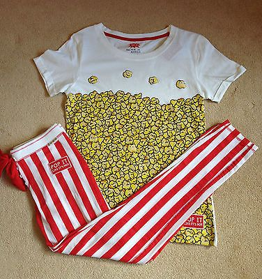 Popcorn Women's Pyjamas Primark Set Leggings Tshirt Pajamas Fancy Dress