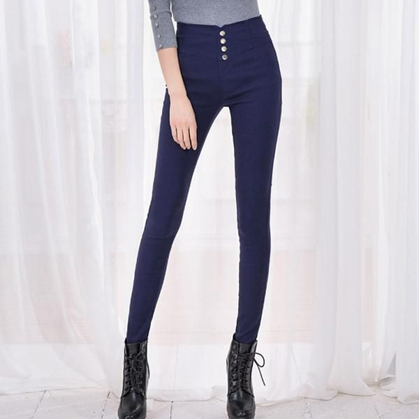 Fashion 2016 New Summer Elegant Women's OL Work Wear Slim Stretch Pencil Pants Trousers Leggings