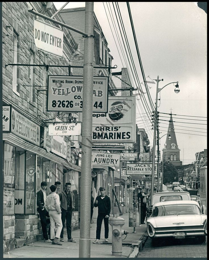 BS PHOTO Main Street Baltimore Maryland 1965