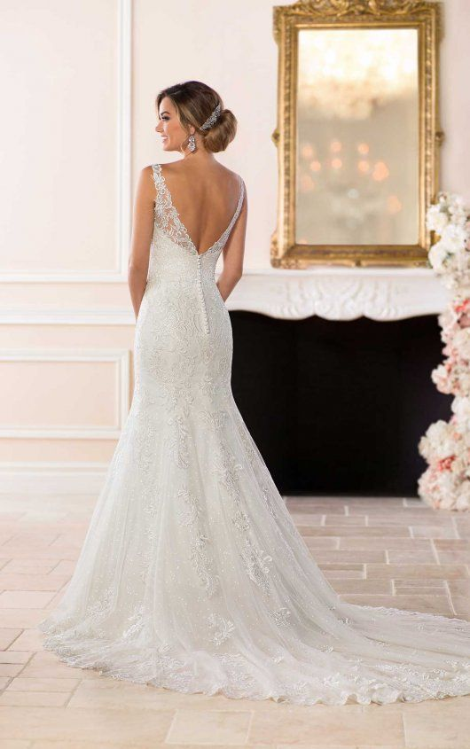 Lace Wedding Dress with Flared Skirt