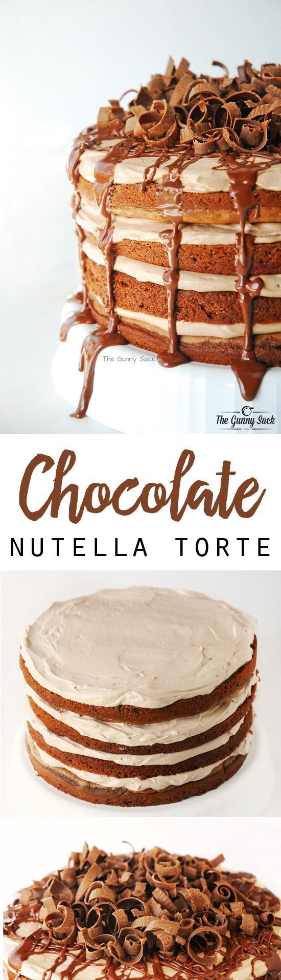 This Nutella Chocolate Torte recipe is a chocolate layer cake filled with a Nutella mousse that is sure to impress!