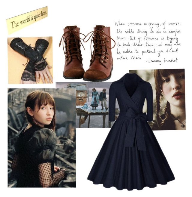 """""""Violet Baudelaire costume"""" by maddywesaley ❤ liked on Polyvore featuring Pixie"""